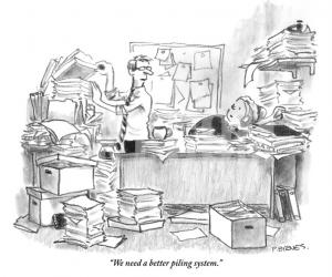 Paper Clutter - Piling vs. Filing