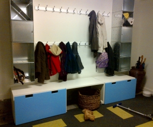 A Mudroom Solution for Family Clutter